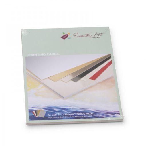 Encaustic kartonpapír, A/4, 6 szín, 250 gr, 24 db