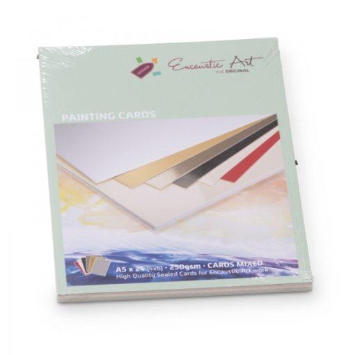 Encaustic kartonpapír, A/5, 6 szín, 250 gr, 24 db
