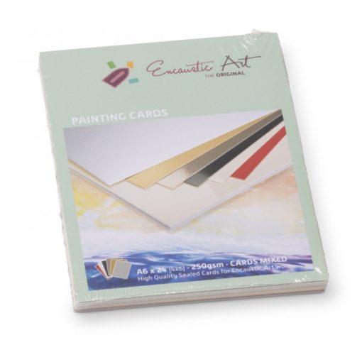 Encaustic kartonpapír, A/6, 6 szín, 250 gr, 24 db