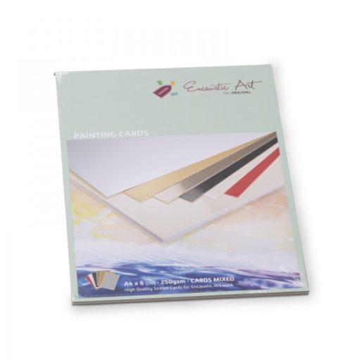 Encaustic kartonpapír, A/4, 6 szín, 250 gr, 6 db