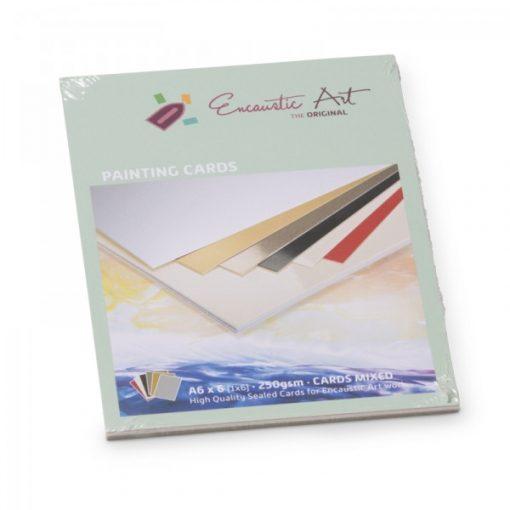 Encaustic kartonpapír, A/6, 6 szín, 250 gr, 6 db