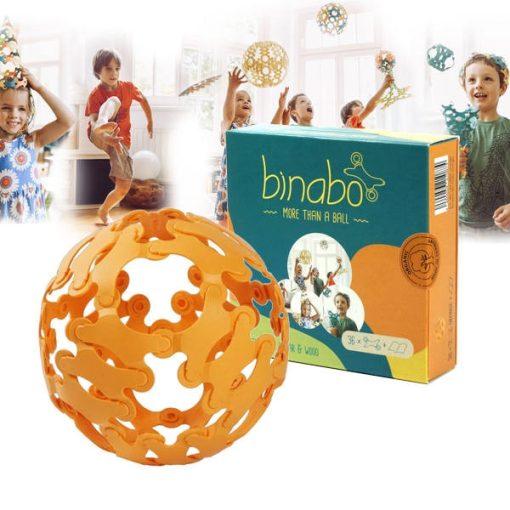 Binabo építőjáték 36 db-os készlet Narancs
