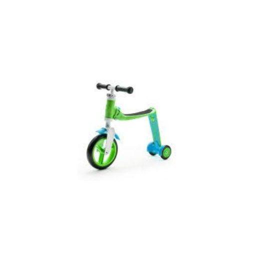 Baby futóbicikli / roller, ZÖLD kettő az egyben 2+ - Kifutó
