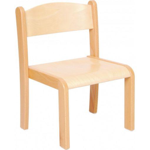 MB118 316 Óvodai szék 36 cm, rakásolható bükk, lakkozott