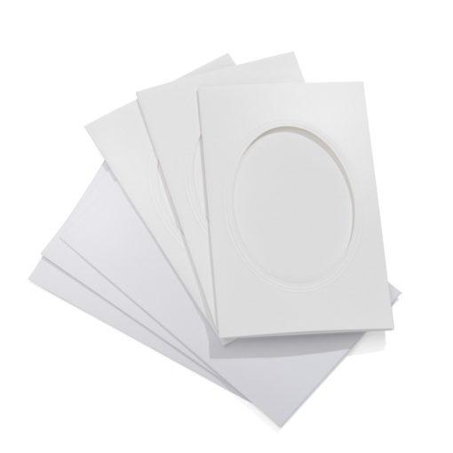 Encaustic Képkeret papírból, borítékkal, 3 db-os, ovális  (11 x 18 cm)