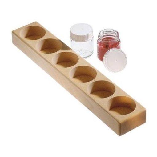 Merc. Fa festéktartó 6 db-os 50 ml edényekhez  wawa