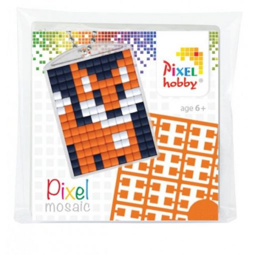 Pixelhobby Kulcstartó szett - Róka (kulcstartó alaplap + 3 szín + lánc)