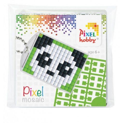 Pixelhobby Kulcstartó szett - Panda (kulcstartó alaplap + 3 szín + lánc)