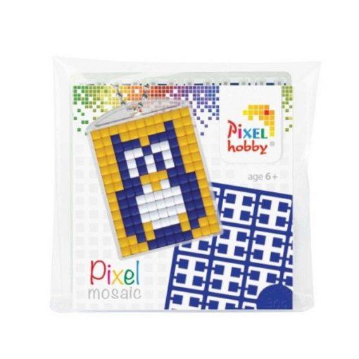Pixelhobby Kulcstartó szett - Bagoly (kulcstartó alaplap + 3 szín + lánc)