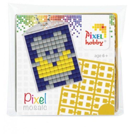 Pixelhobby Kulcstartó szett - Egérke (kulcstartó alaplap + 3 szín + lánc)