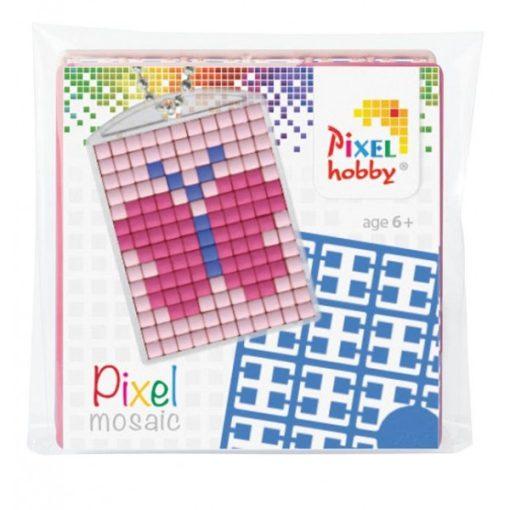 Pixelhobby Kulcstartó szett - Lepke (kulcstartó alaplap + 3 szín + lánc)