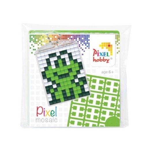 Pixelhobby Kulcstartó szett - Béka (kulcstartó alaplap + 3 szín + lánc)