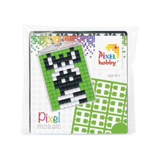 Pixelhobby Kulcstartó szett - Zebra (kulcstartó alaplap + 3 szín + lánc)