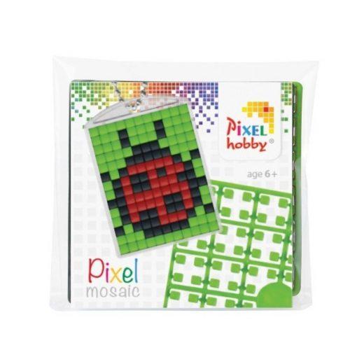 Pixelhobby Kulcstartó szett - Katica (kulcstartó alaplap + 3 szín + lánc)