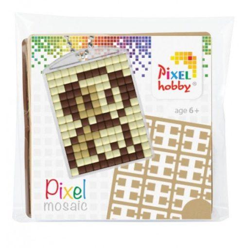 Pixelhobby Kulcstartó szett - Kutyus (kulcstartó alaplap + 3 szín + lánc)