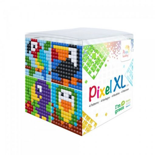 Pixel XL szett - Madarak (4db 6x6cm alaplap, 12 szín)