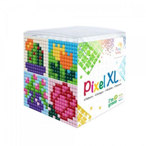 Pixel XL szett - Virágok (4db 6x6cm alaplap, 12 szín)