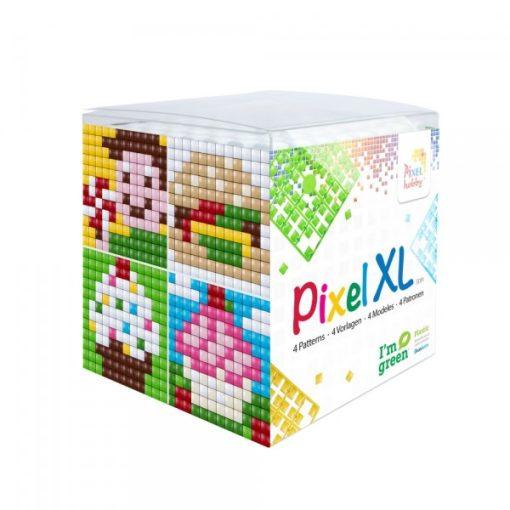 Pixel XL szett - Uzsonna (4db 6x6cm alaplap, 12 szín)
