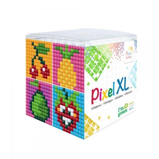Pixel XL szett - Gyümölcsök (4db 6x6cm alaplap, 12 szín)
