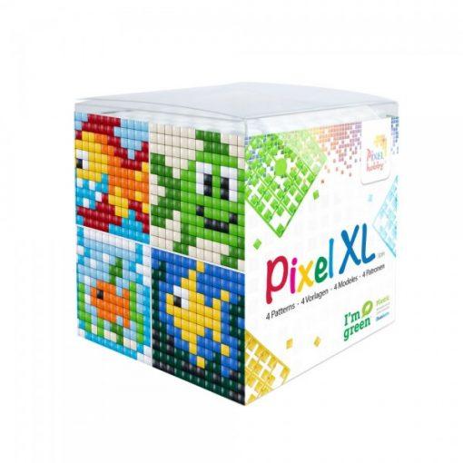 Pixel XL szett - Halak (4db 6x6cm alaplap, 12 szín)