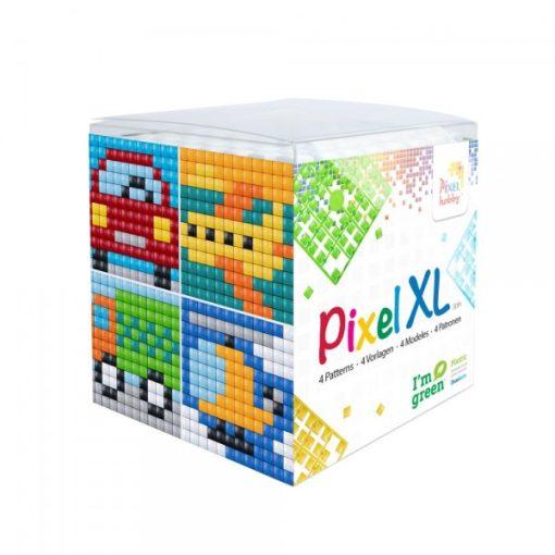 Pixel XL szett - Járművek (4db 6x6cm alaplap, 12 szín)