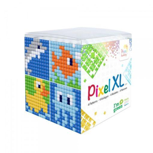 Pixel XL szett - Vízi élőlények (4db 6x6cm alaplap, 12 szín)