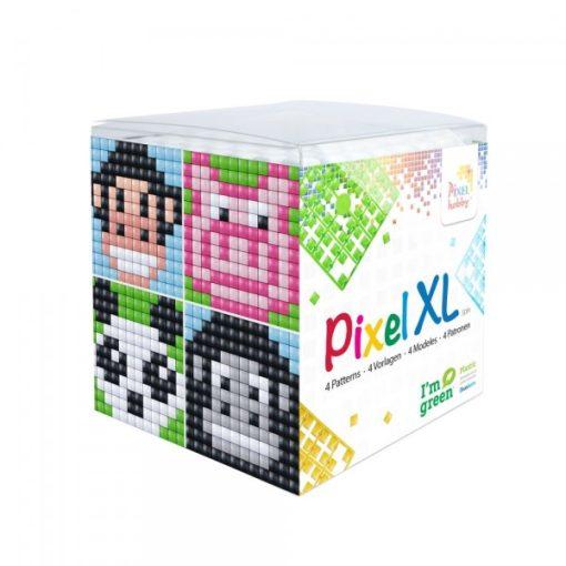 Pixel XL szett - Állatok-1. (4db 6x6cm alaplap, 12 szín)