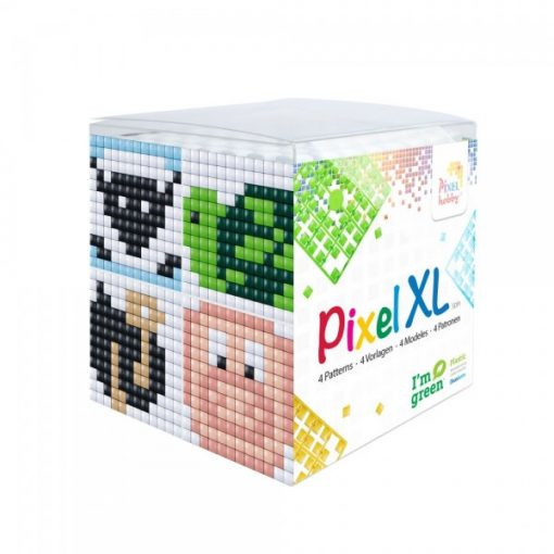 Pixel XL szett - Állatok-2. (4db 6x6cm alaplap, 12 szín)
