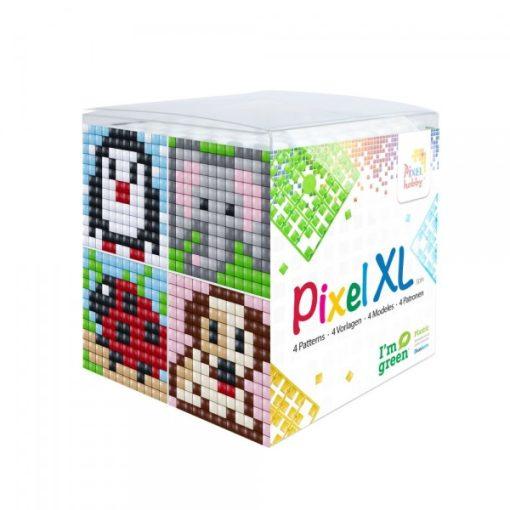 Pixel XL szett - Állatok-3. (4db 6x6cm alaplap, 12 szín)
