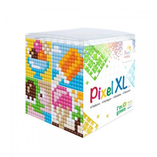 Pixel XL szett - Fagylaltok (4db 6x6cm alaplap, 12 szín)