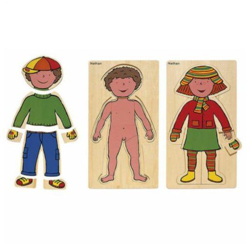 Testünk megismerése puzzle - fiú, Nathan, NA332717