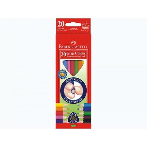 Faber-Castell,GRIP JUN 20 színű ceruza hegyezővel
