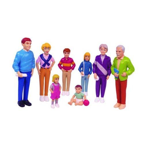 Európai család, 8 db-os, MINILAND, ML27395