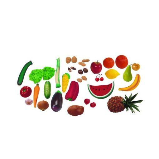 Gyümölcs és zöldség dobozban, 36 db-os, MINILAND, ML30811