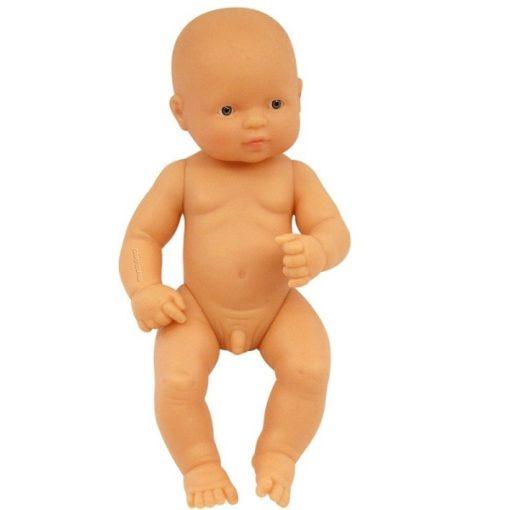Baba - európai fiú, haj nélkül, 32 cm-es, vízálló, MINILAND, ML31031