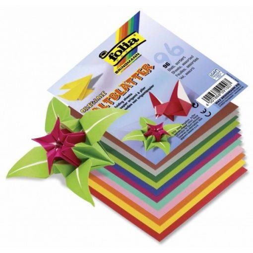 Origami papír 19x19 cm, 96 lap /csomag