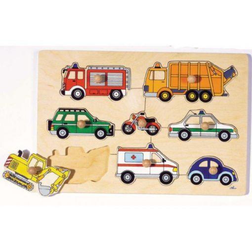 Fogós puzzle, járművek - GOKI GK57996