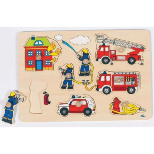 Fogós puzzle, tűzoltók - GOKI GK57907