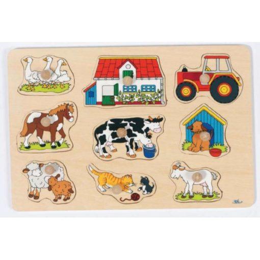 Fogós puzzle, A ház körül - GOKI GK57908