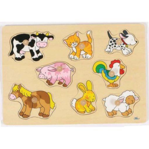 Fogós puzzle, háziállatok - GOKI GK57873