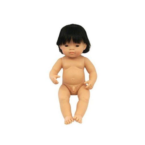 Baba - ázsiai fiú, hajas, 38 cm-es, vízálló, MINILAND, ML31055