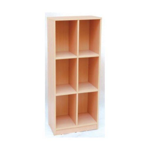 MB100 304 6 rekeszes magas szekrény 3 szintes