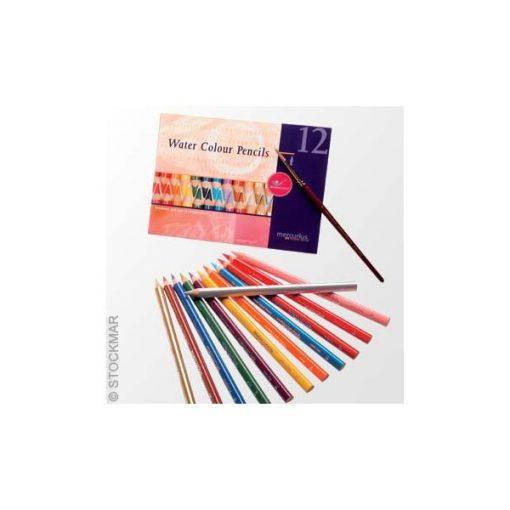AMS 12 színű aquarell ceruza készlet ecsettel, Mercurius