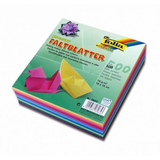 Origami papír 15x15 cm, 500 lap /csomag
