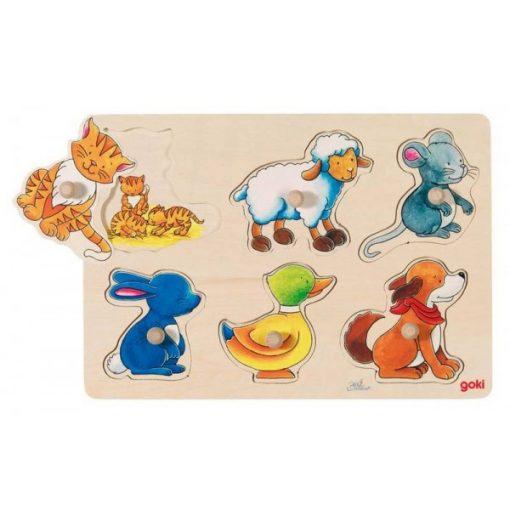 Fogós puzzle, állatos - GOKI GK57929