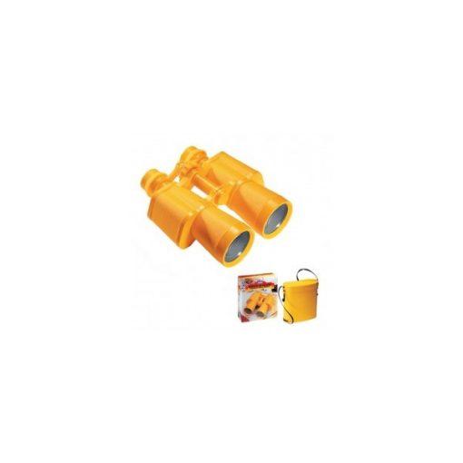 Sárga távcső tokkal, négyszeres nagyítással, Op1020