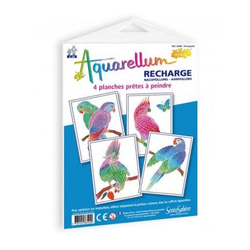 Pótlapok Aquarellum képekhez, papagájok, Sentosphere SA654 R P