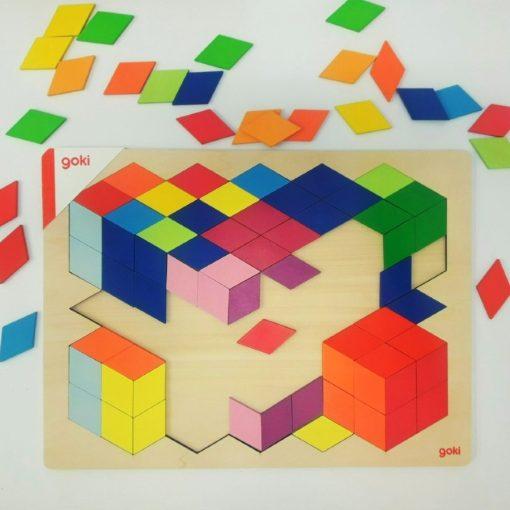 Kockák puzzle, GOKI GK57664