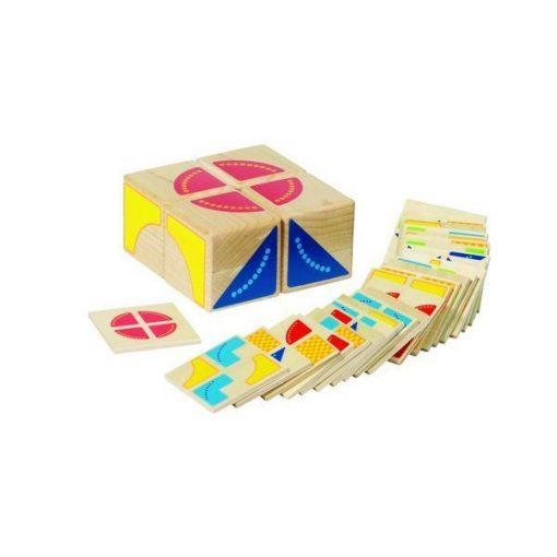 Kocka kirakó feladatkártyákkal, Kubus - GOKI GK58649